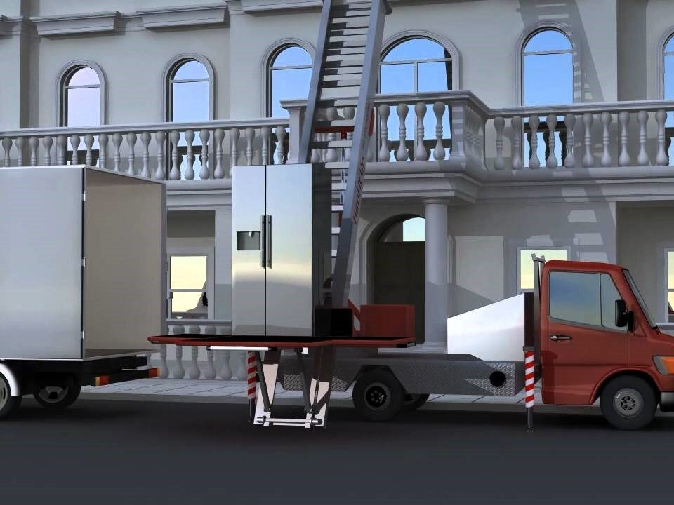 Camion monte-charge